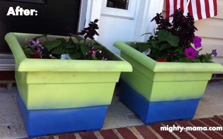 paint flower pots mighty mama. Black Bedroom Furniture Sets. Home Design Ideas