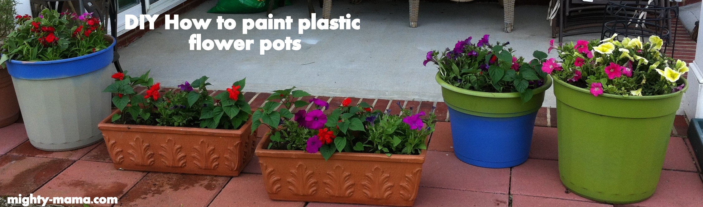 Mighty Mama - WordPress.com & paint flower pots | Mighty Mama
